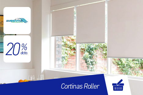 Ambientha |Cortinas Roller |20% dcto.