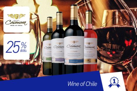 Hugo Casanova |Vinos de Chile |25% dcto.