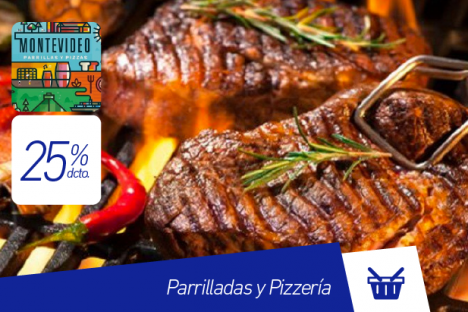 Montevideo |Parrilladas y Pizzería |25% dcto.